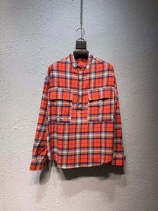 homens puxar hip hop streetwear mais de flanela xadrez camisa oversize