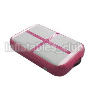 Pembe Renk Şişme Hava Bloğu / Hava Kurulu Mini Boyutu Amigo Jimnastik Paspaslar 1 * 0.6 * 0.1 m Hava Parça Mat Düşük Fiyat