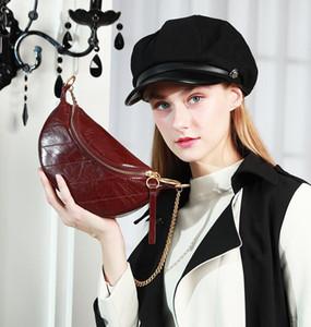 2020 nouveau messager petit c k mode automne et d'hiver en cuir sac taille plissé épaule petit ck dames sac sac de taille de la poitrine des femmes