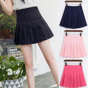 Taille haute jupe de tennis plissée jupe courte école robe avec shorts intérieurs Zip pour fille adolescente sports d'équipe badminton scooters jupes de tennis