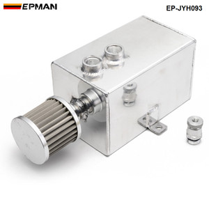 EPMAN Racing 3L Aluminium Oil Catch Can Tank with Breather Drain Tap 3LT Baffled EP-JYH093