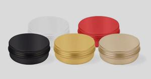 Alüminyum kavanoz konteyner 60 ml 60g 2 oz altın siyah kırmızı pembe beyaz renk Yuvarlak Kalay metal Alüminyum kozmetik kavanoz ...