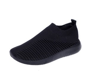 Sneakers Designer Trainer Black Womens Top Fashion Flat Sunk Shoes New Air Waver Knit Runner Scarpe Casual Scarpe Big Size