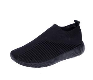 Tasarımcı Sneakers Hız Eğitmen Siyah Kadın En Moda Düz Çorap Ayakkabı Yeni Hava Yün Örgü Casual Ayakkabı Büyük Boy Koşu