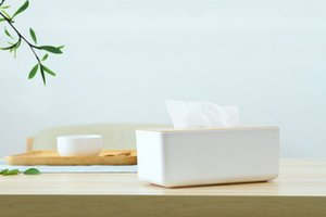 Household Removable Tissue boxes home Kitchen Wooden Plastic Tissue Box Solid Wood Napkin Holder Case Simple Stylish