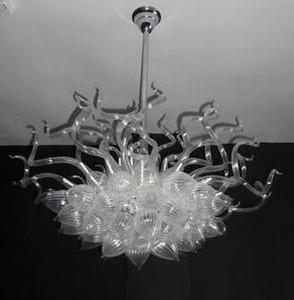 Plafond Moderne Lumières Luminaire semi-affleurant de Verre soufflé à la main Art Salon éclairage Chadelier (LR098)