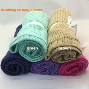 Banklet Receiving Blanket Solid Color Soft Organic Cotton Blankets Portable Durable Comfortable Baby Blanket