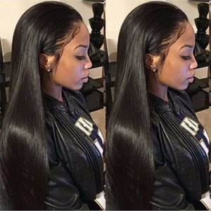 4x4 Lace Closure Wig Straight Brazilian Lace Front Human Hair Wigs PrePlucked 150% 180% Remy Lace Frontal JF0003