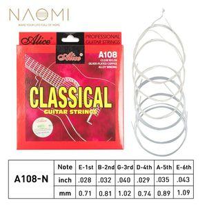 Ferida Cordas Guitarra Clássica A108-N Clear Nylon Prata Copper Alloy