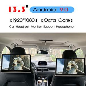 KANOR 13,3-дюймовый Android 9,0 2 Гб + 16 Гб Подголовник монитор 1920 * 1080 4K сенсорный экран WIFI / Bluetooth / USB / SD / HDMI / FM / Mirroring