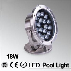 18W LED نافورة مصباح الإضاءة تحت الماء الفولاذ المقاوم للصدأ IP68 السلامة AC12V / 24V حمام سباحة / برك / إضاءة خارجية في الهواء الطلق