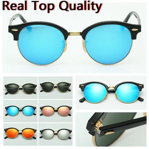 lunettes de soleil design rond modèle uv400 verres en verre lunettes de soleil des lunettes de soleil avec étui en cuir d'origine, accessoires, boîte, etc.