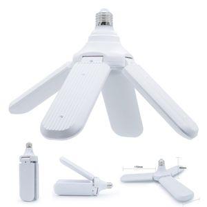 Bulb 96-265V LED E27 dobrável blade fan Bulb 30W 45W 60W lâmpada LED Super Bright Branco 6500K para Indoor Início luz de teto