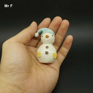 Exquisite Diy Accessory Resin Cute Christmas Snowman Decoration Accessories Model Toy