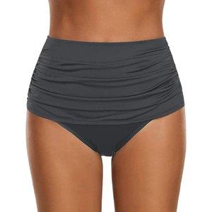 Creped Bikini Bottoms High Waist Swimsuit Thong Women's Swimwear Summer Sexy Crochet Beach Bottom Underwear Swim Suit 2020 20Feb