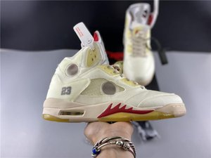 Best Quality 2020 New Men 5S Basketball Shoes Off 5 OG Ice Cream White Sports Sneakers Designer Trainers