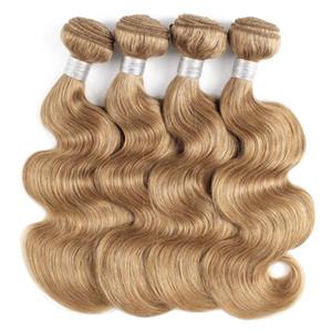 # 27 Honig Blonde Menschenhaar Webart Bundles Indische Peruanische Malaysische Körperwelle Haar 3 oder 4 Bundles 16-24 Zoll Remy Menschenhaarverlängerungen