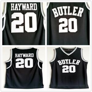 NCAA Butler Bulldogs Gordon #20 Hayward Jersey Black Stitched Gordon Hayward University College Basketball Jerseys Shirts S-XXL
