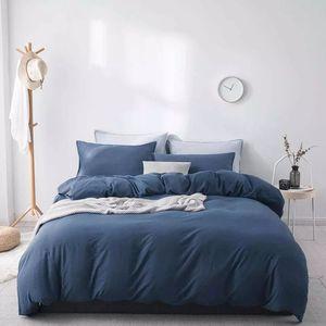 Xiaomi youpin Como Living Washed Velvet Literie doux pour la peau maison de quatre pièces linge de lit housse de couette taie feuille de textile plat 30