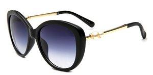 2018 OversizedIat Italy 패션 스타일 럭셔리 Inlay Pearl 선글라스 Mirrored Shades 브랜드 디자이너 원피스 Sun Glasses for wom