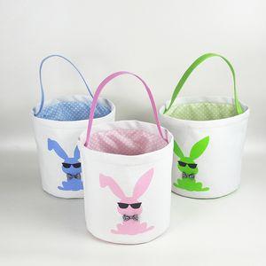 Сумки 15styles Easter Basket Easter Bunny хранение яйцо Конфета Корзина Bucket Холст блестки сумка Printed Tote Easter Rabbit Сумка GGA3189-2