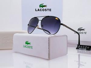 Gafas de sol polarizadas marco grande controlador de los cocodrilos aluminio de alta calidad de los hombres de magnesio Conducir sapo Espejo con la caja original