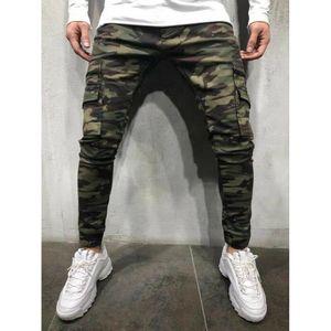 Moda Uomo Pantaloni Casual Pantaloni mimetici Lavoro Cargo Army Camo Combat Plus Size Pant Hip Hop Style Streetwear