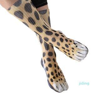 Wholesale-2018 Neuheit 3D Stamping Tierischer Fuß Feet Crew Socken Adult Digitale Simulation Socken Unisex Tiger Hund Katze Socke
