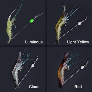 10pcs 90mm 7g Simulation douce Prawn pêche de crevettes flottant Lure en forme de crochet appât Bionic artificiels crevettes Leurres avec crochet