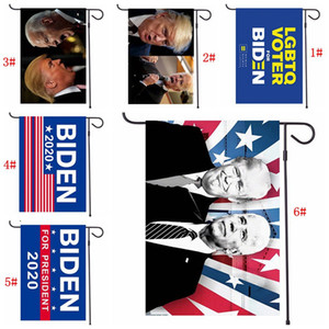 47 * 32cm Bandiere Biden Trump Giardino 2020 l'America Elezioni presidenziali Bandiera Banner Joe Biden Donald Trump poliestere Bandiere all'ingrosso DBC BH3857