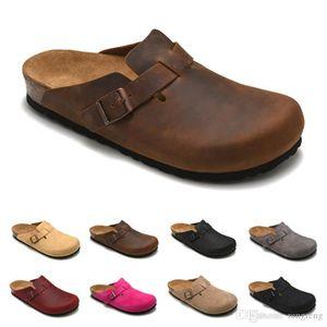 Boston Mayari Arizona Gizeh bolsa de couro cabeça puxar cortiça chinelos feminino masculino verão anti-skid chinelos sapatos preguiçosos amantes sapatos de praia Scuffs