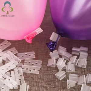 """100pcs / lot """"V"""" """"H"""" Shape Balloons Sealing Clipe Ballon Botões Clipes Decoração festa de Natal do aniversário de casamento"""