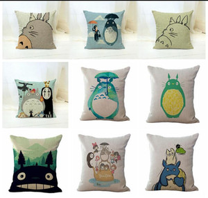 Eco-Friendly Anime chinchilla Totoro pillow Cases Cushion Cover Pillowcase Linen Cotton Home Soft Square Throw Pillow Case Christmas gift