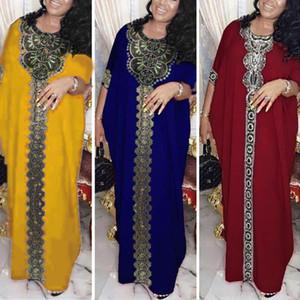 2020 Plus Size Dubai Abaya Robe Femmes Musulmanes Bangladesh Robes de soirée marocaine Kaftan turque Pakistan Abaya Vêtements islamique