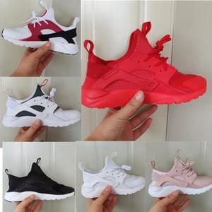 Hava Huarache Run 4 Çocuklar koşu ayakkabıları Çocuk huaraches açık toddler atletik erkek kız Bebek Yürüyor sneaker