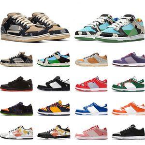 Nike Sb Dunk low Negro Blanco Zapatos casuales Lona Naranja Grim Reapers Hombres Mujeres Diseñador Zapatillas Zapatillas Deportes Caminatas Senderismo
