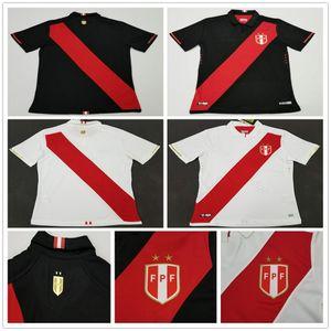 Maglia da calcio PERU 2019 copa america casa bianco rosso via camicia da calcio nera camiseta de fútbol peru maglia piede