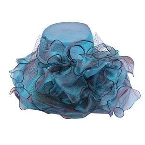 2020 Sun Hat Fashion Big flower net yarn Women Summer Sport Headband Classic Sun Visor Hat Cap Hot Sale #C