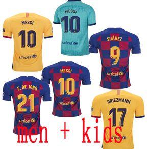 Barcelona Futebol 10 Messi Ansu FATI 21 F.DE JONG 17 Griezmann 2019 camisas de futebol 2020 MenKIDS COUTINHO SUAREZ MALCOM PIQUE VIDAL