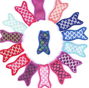 Anti congelamento Mermaid picolé Bag Ice Pop titulares mangas Freezer reutilizável lavável sereia titulares de picolé cauda Saco 15 estilos KKA7815-1