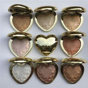 الماس توهج مسحوق العلامة التجارية الشهيرة الحب ضوء المنشورية المنور تمييز ماكياج برونزي 8 ألوان شحن مجاني 1PCS المصنع مباشرة مجانا