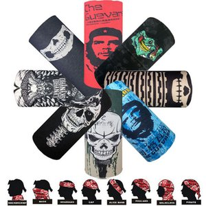 Bandanas Outdoor Riding Magic Face Mask 220 Designs Multifunctional headband 2018 New Fashion Seamlessly Headwear Skull Head Scarf LSF063