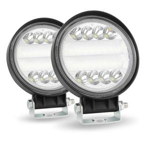 Glorystar uydu 4inch Yuvarlak Çalışma LED Işık 4WD SUV LED 200W 6000K Sel Nokta Kirişler Offroad Bar Araç Far
