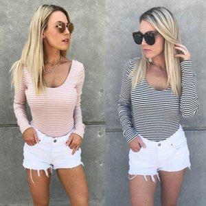 Banda delle donne supera corta manica lunga Backless T-shirt 2017 autunno casuale morbido allentato Moda Streetwear superiore del T-shirt
