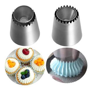 Wunderbare russische Ring-Plätzchen-Form-Piping Düsen Ice Cream Pastry Dekorieren Edelstahl Icing Nozzle Küchen-Backen-Werkzeug