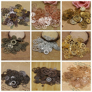 DIY Assorted Color Antique Metal Steampunk Gears Charms Pendants Clock Watch Wheel Gear accessories for Crafting Jewelry Making Accessory