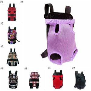 Pet Dog Front Carrier Chat Mesh Voyage fourre-tout avant coffre portable Sac à dos en tissu coloré Carriers extérieur Portable Pet Kennel 11Style LXL44-1