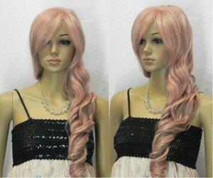 Бесплатная доставкаНовое горячее надувательство! Особый серый - розовый Mix Long Wavy Cosplay Wig