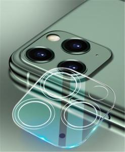 Para iphone 11 Pro MAX XS XR X Telefone Lens protetor de tela traseira Caso 3D transparente Risco-resistente Voltar Camera temperado Film tampa de vidro