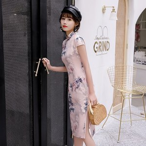 traditionelle chinesische cheogsam Seide Republik Artgewebe Charme sexy Frau Sommerkleid Retro Kostüme beliebte Elemente